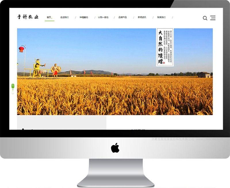 山东于科生态农业发展有限公司,济南网站建设